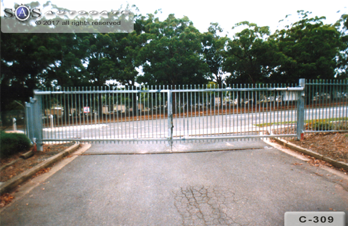 double swing commercial gates