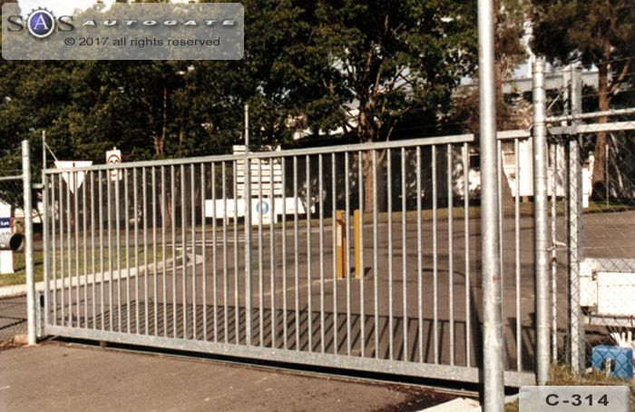 sliding commercial gate