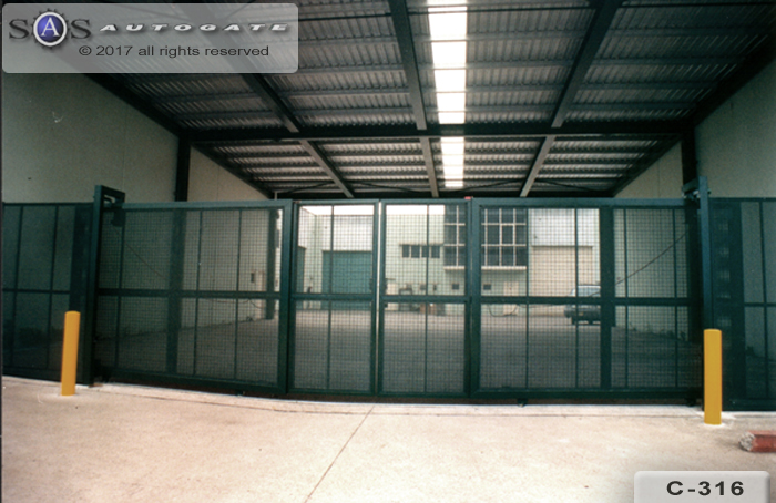 industrial swing - slide gates