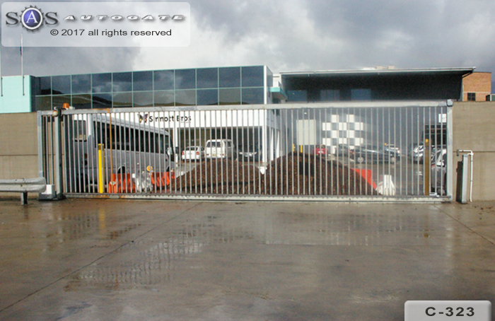 large industrial sliding gate