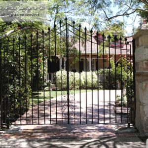 double swing driveway gates