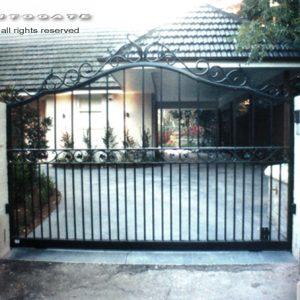 sliding wrought iron gate