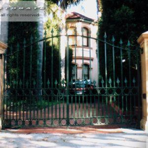 solid steel swing gates