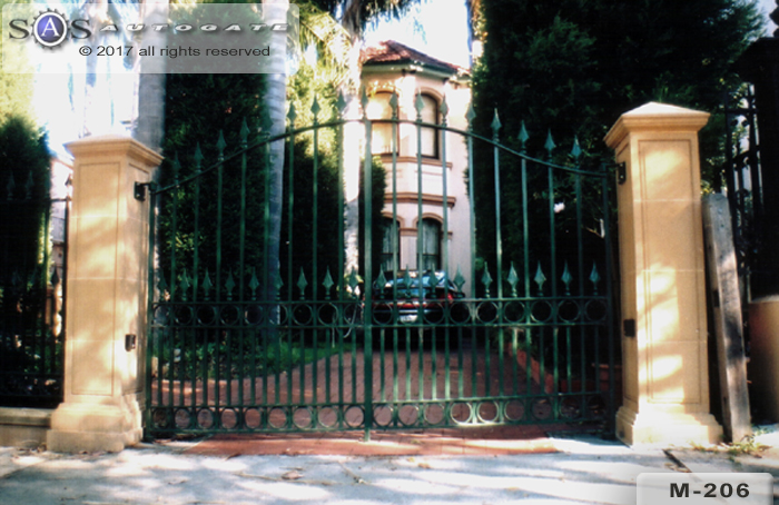 solid steel swing gates