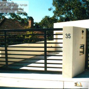 modern steel swing gates