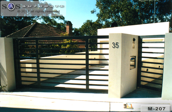 modern steel swing gates