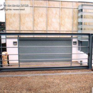 modern steel sliding gate