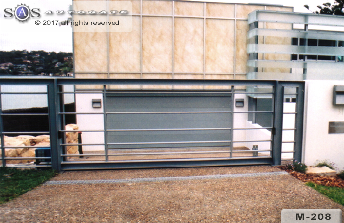 modern steel sliding gate