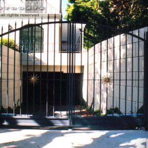 decorative steel swing gates
