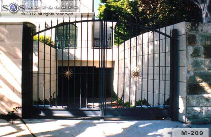 decorative steel swing gates