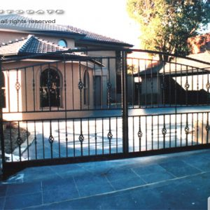 wrought iron steel gates
