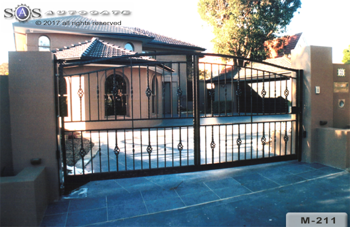 wrought iron steel gates