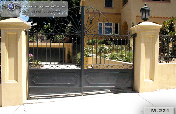 wrought swing gates