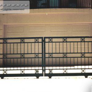 bi-parting steel gates