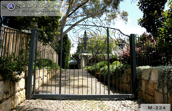 wrought iron steel swing gate