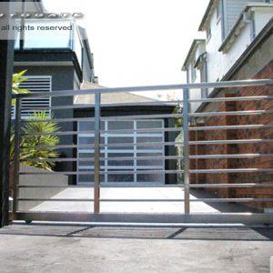 modern stainless steel gate
