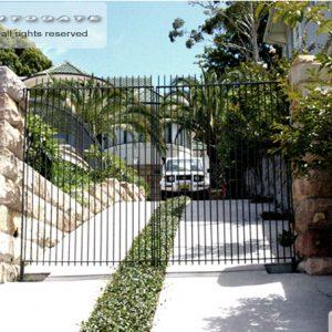 modern automatic steel gates