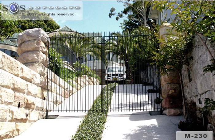 modern automatic steel gates