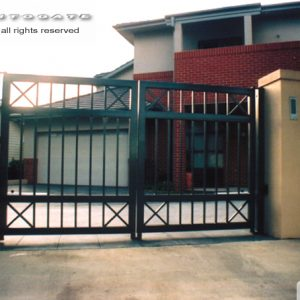 automatic modern steel gates