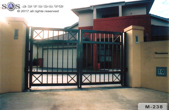 automatic modern steel gates
