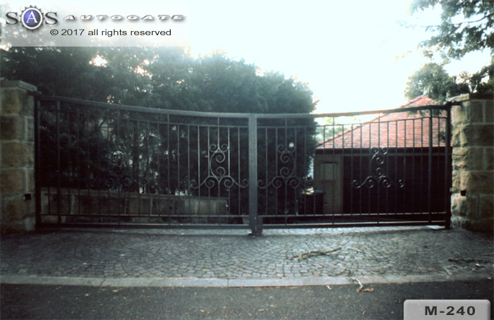 double swing wrought iron gates