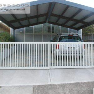 dual sliding steel gates