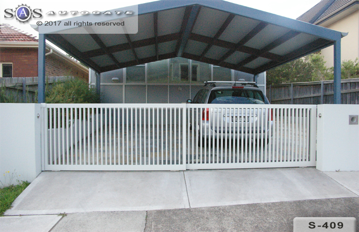 dual sliding steel gates