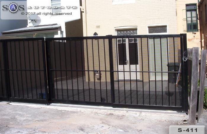 daul sliding steel gates