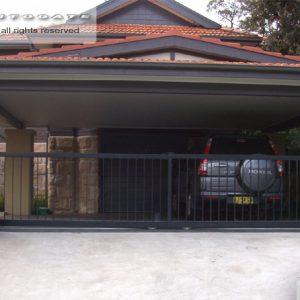 automatic telescopic steel gates