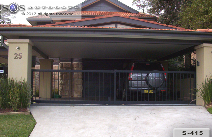 automatic telescopic steel gates
