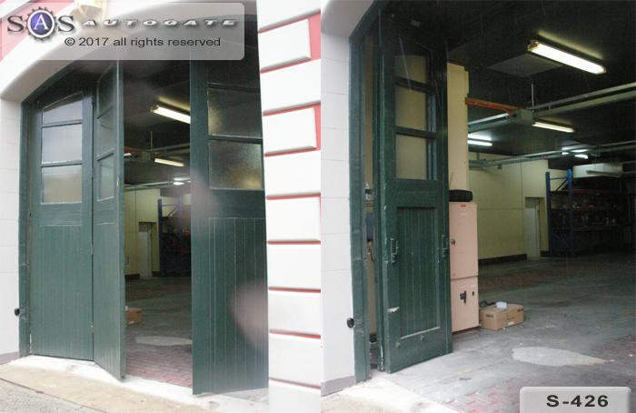 automatic bi-fold garage doors
