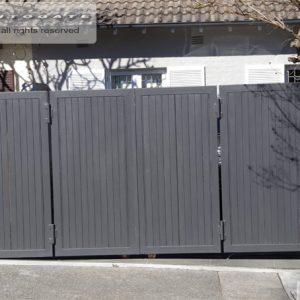 timber and steel bi-folding gates
