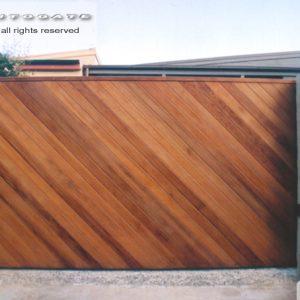 automatic timber sliding gate