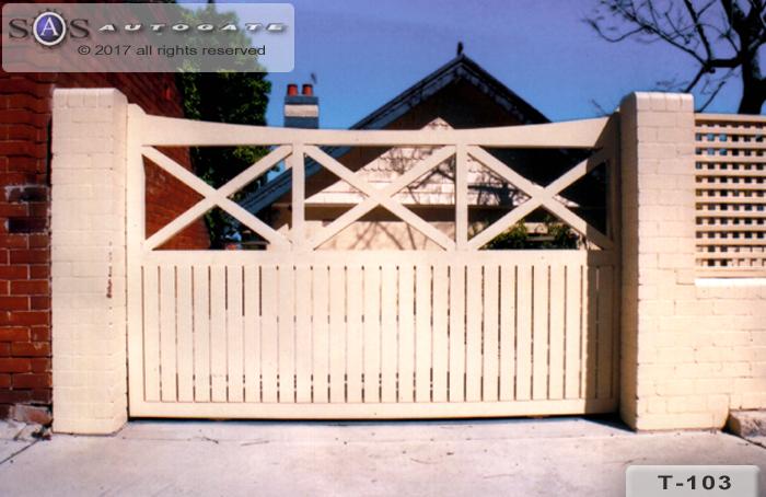 automatic timber gate