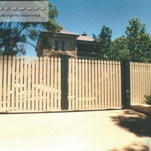 timber swing gates