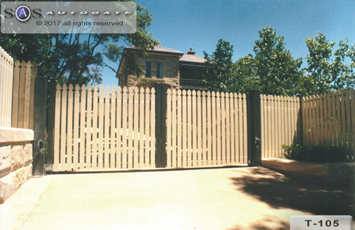 timber swing gates