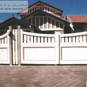 federation style cedar gates