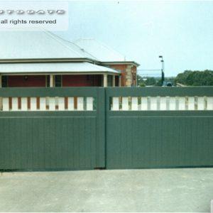 modern timber gates