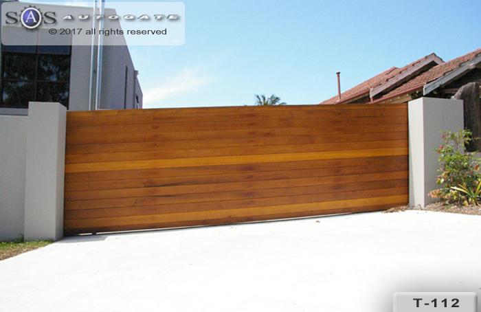large timber gate