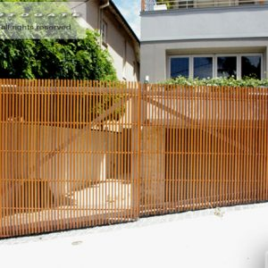 timber slat gates