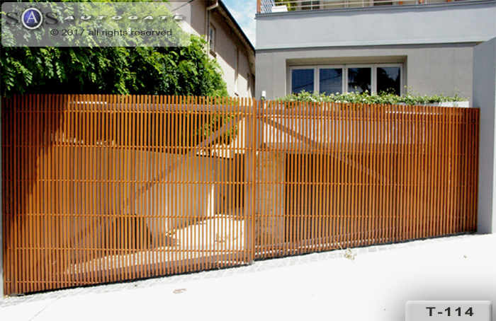 timber slat gates
