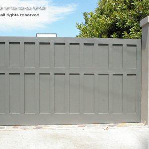 modern timber sliding gate