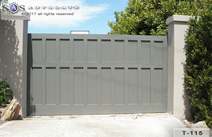 modern timber sliding gate