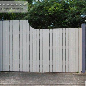 timber swing gate