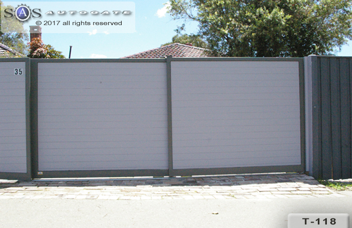 timber and steel sliding gates