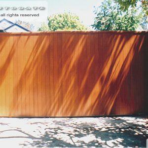 cedar sliding gate