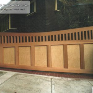 federation style timber gate