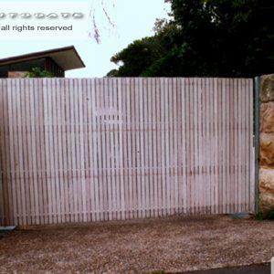 automatic cedar gate