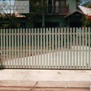 Picket style gates