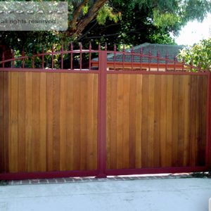 Timber and steel swing gates